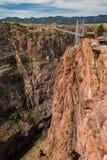 Passerelle royale de gorge, le Colorado Photographie stock libre de droits