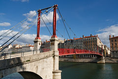 Passerelle Saint-Georges Bridge in Lyon, France Royalty Free Stock Photos