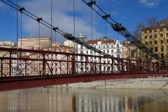 Passerelle Saint Vincent sur la Saône Image stock
