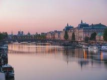 Passerelle Solferino in Paris Stockfotos