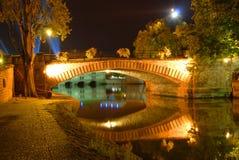 Passerelle à Strasbourg, France Photographie stock libre de droits