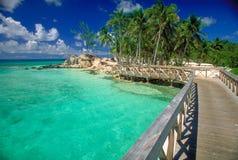 Passerelle vers l'île Images libres de droits