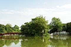 Passerelle vers l'île de jade Photographie stock