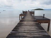 Passerelle vers la mer Photographie stock
