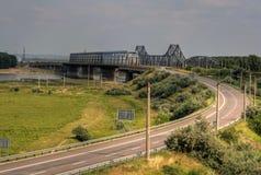 Passerelles au-dessus du Danube Images libres de droits