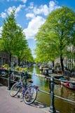 Passerelles d'Amsterdam photo libre de droits