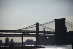 Passerelles de Brooklyn et de Manhattan Images stock