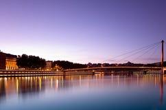 Passerelles de Lyon Images stock