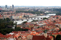Passerelles de Prague photo stock