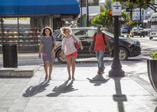 Passers-by in Downtown Miami Stock Image