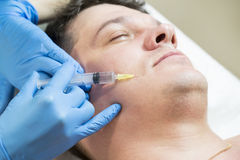 Passes a course of mesotherapy clinic Royalty Free Stock Images