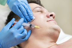 Passes a course of mesotherapy clinic Stock Photography