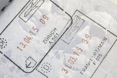 Passet stämplar Europa royaltyfria foton