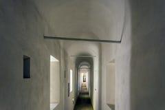 Passetto的内部在sain彼得大教堂和城堡之间的 库存图片