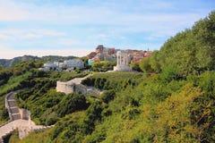Passetto-Park mit dem Monument gefallen Ancona, Italien lizenzfreies stockbild