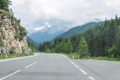 Passez la route au-dessus des Alpes, Autriche photographie stock