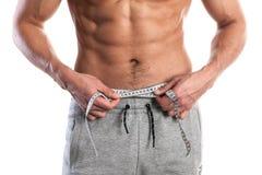 Passform muskulös manlig kropp Arkivbilder