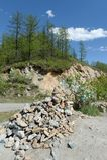Passi Chike-Taman La vecchia strada del tratto di Chuysk Montagna Altai La Siberia occidentale Immagine Stock Libera da Diritti