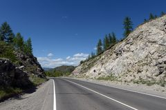 Passi Chike-Taman Tratto di Chuysky Montagna Altai Fotografia Stock