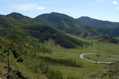 Passi Chike-Taman Tratto di Chuysky Montagna Altai Immagine Stock