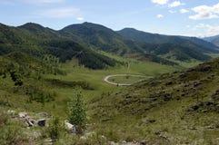 Passi Chike-Taman Tratto di Chuysky Montagna Altai Fotografie Stock Libere da Diritti