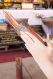 Passi con fortuna fusa dei lotti del tempio cinese Fotografie Stock