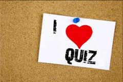 Passi il amore di concetto dell'esame di istruzione della prova di significato di concetto di quiz di amore di rappresentazione I Fotografia Stock