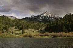 Passi il lago creek Immagini Stock