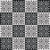Passi il modello senza cuciture di disegno per i colori delle mattonelle in bianco e nero Fotografia Stock Libera da Diritti