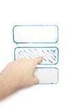 Passi indicare uno schema su un whiteboard Fotografia Stock