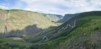 Passi Katu-Yaryk Altai, Siberia Fotografia Stock
