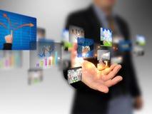 Passi l'accumulazione di affari della holding Immagini Stock Libere da Diritti