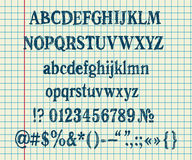 Passi l'alfabeto dell'illustrazione Fotografia Stock Libera da Diritti