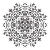 Passi l'elemento decorato di disegno della mandala nello stile orientale Immagine Stock Libera da Diritti