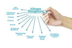 Passi l'elemento di scrittura della gestione dell'allergene per il concetto di affari Fotografie Stock