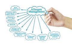 Passi l'elemento di scrittura della gestione dell'allergene per il concetto di affari Fotografia Stock