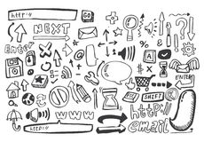 Passi l'icona di Web di tiraggio, vettore Immagini Stock Libere da Diritti