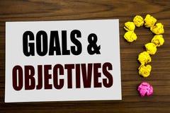 Passi l'ispirazione di titolo del testo di scrittura che mostra gli obiettivi di scopi Concetto di affari per visione di successo Immagine Stock Libera da Diritti