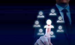 Passi la rete di trasporto dell'icona dell'uomo d'affari - concetto di ora, di HRM, di MLM, di lavoro di squadra e della direzion immagini stock libere da diritti