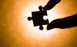 Pezzo di puzzle Fotografia Stock