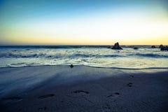 Passi nel tramonto Fotografia Stock