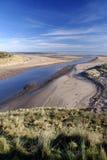 Passi nella sabbia Fotografia Stock