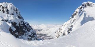 Passi nelle montagne nordiche Fotografia Stock