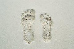 Passi su una sabbia Fotografia Stock