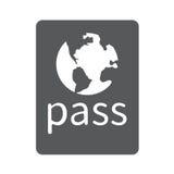 Passidentifizierungsikone Lizenzfreies Stockbild