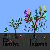 Passief inkomen, geldboom stock illustratie
