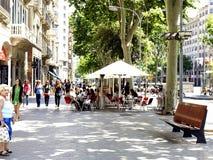Passieig DE Gracia, Barcelona, Spanje. Stock Afbeelding