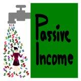 Passieve inkomen, Cash flow en onderneemster vector illustratie