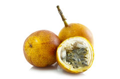 Passiflora edulis fruit (Passion fruit) Royalty Free Stock Image
