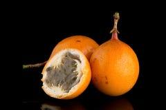 Passiflore de maracuja de passiflore comestible de passiflore Photographie stock